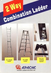 Tangga Lipat Aluminium Apache 2 Way Combination Ladder